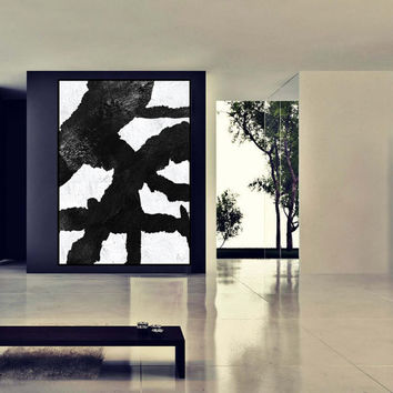 huge Large wall Art, original Painting On Canvas, Minimalist Canvas Wall Art interior Decor, handmade acrylic painting, black and white art