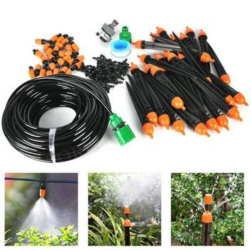 ONETOW Boruit 25M Hose Micro Irrigation Drip System With Adjustable Drippers Sprinkler Watering Kits Fountain For Garden Greenhouse