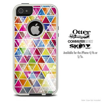 The Triangular Shaped Abstract Skin For The iPhone 4-4s or 5-5s Otterbox Commuter Case