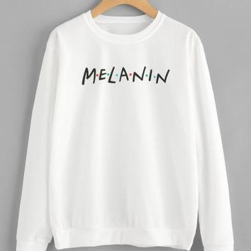 Melanin printed pullover sweater