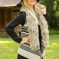 BB DAKOTA: Eskimo Kisses Vest-Ivory