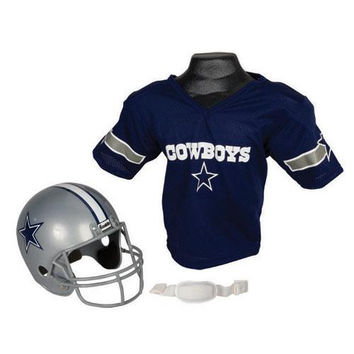 Dallas Cowboys Youth NFL Helmet and Jersey Set