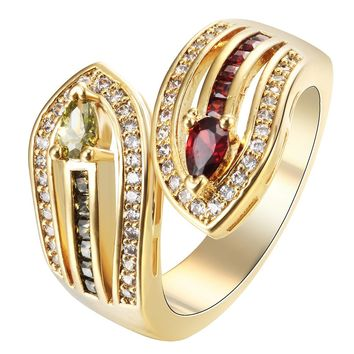 snake ring gold color vintage gift for women 2017 imitation cz zircon golden princess wedding sword RINGS JEWELLERY