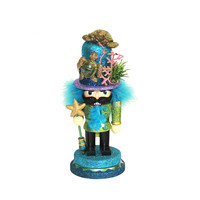 Kurt Adler 11-Inch Hollywood Nutcracker with Sea Turtle Hat