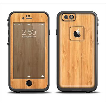 The Light Bamboo Wood Apple iPhone 6/6s LifeProof Fre Case Skin Set