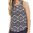 Black White and Chic Printed Tank Top