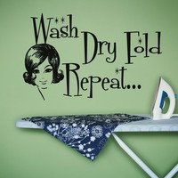 Wash Dry Fold Wall decal