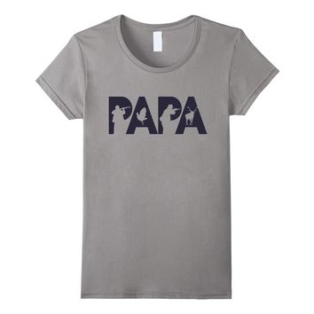 Hunter Dad T-shirt Funny Papa Hunting Father Gift Top Tee