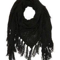Fringe Triangle Wrap Scarf by Charlotte Russe