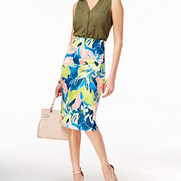ECI Printed Pencil Skirt | macys.com
