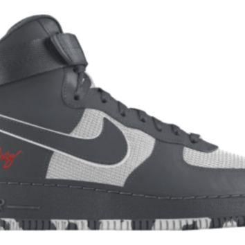 Nike Air Force 1 High iD Custom Girls' Shoes 3.5y-6y - Grey
