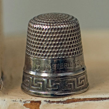 Vintage Thimble Stern Brothers Sterling