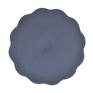 """16"""" Round Scallop Placemat S/4 
