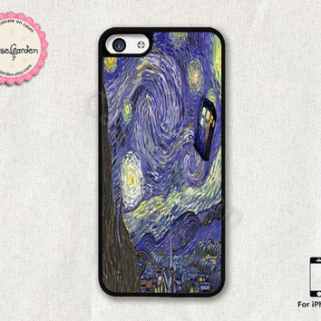 Starry Night Doctor Who iPhone 5C Case, iPhone Case, iPhone Hard Case, iPhone 5C Cover