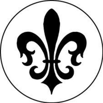 Fleur de lis wooden handle rubber stamp by typeStyles on Etsy