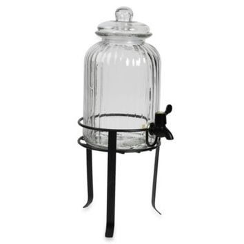 Tabletops Unlimited® 1.25-Gal Glass Drink Dispenser with Wire Stand