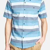 Men's Ezekiel 'Lowell' Trim Fit Short Sleeve Stripe Woven Shirt,