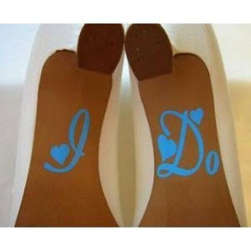 I Do for wedding shoes vinyl decal stickers