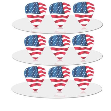 SOACH  50pcs Thickness 0.71mm Newest FD high quality exquisite Flag of the United States pick guitar picks