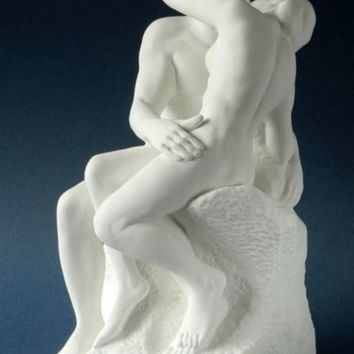 The Kiss Statue Lovers Kissing by Auguste Rodin, Assorted Sizes
