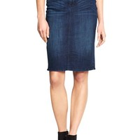 Gap Women Factory Denim Pencil Skirt