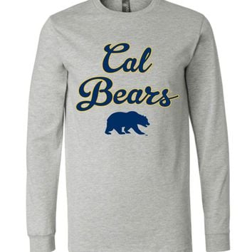 Official NCAA University of California UC Berkeley Golden Bears CAL Oski! Long Sleeve T-Shirt - UCAL1011