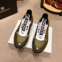 Givenchy Men's Leather Fashion Low Top Sneakers Shoes-KUYOU