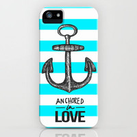 Anchored // Love iPhone Case by Dani Barrientos | Society6
