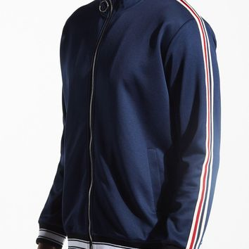 KARTER COLLECTION TRACK JACKET MURDOCK KRTRFA218-117 navy