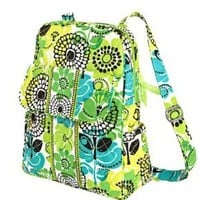 Vera Bradley Backpack Purse in Lime's Up