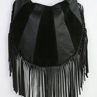 Ecote Fringe Patchwork Vegan Leather Hobo Bag - Urban Outfitters