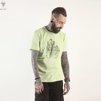 Short Sleeve Tops Round-neck Men Cotton T-shirts [10807115395]