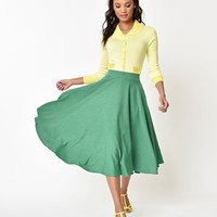 Voodoo Vixen Green Sandy Full Circle Skirt