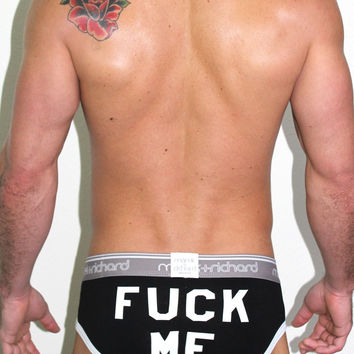 Fuck Me Brief- Black