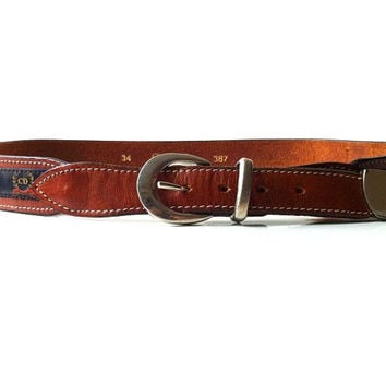 Vintage Christian Dior Leather Western Belt