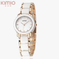 Brand Kimio 2014 Ladies Ceramic Luxury Bracelet Watches with Imitation Ceramic Fine Steel Strap Dress Watches = 1956356676