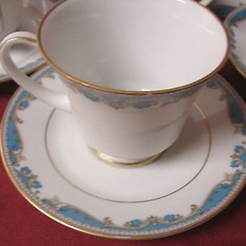Noritake China Dinnerware Oberlin pattern #2486 set of 2 cup and  saucer
