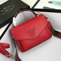 Prada Women Leather Shoulder Bag Shopping Satchel LV Tote Bag Handbag