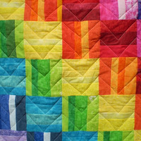 Rainbow Baby quilt-Baby boy bedding,baby girl quilt,Rainbow lap quilt,Patchwork crib quilt,Modern baby quilt,toddler,bright colors-Sparkle