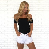 Girls Just Want To Have Sun Bodysuit In Black