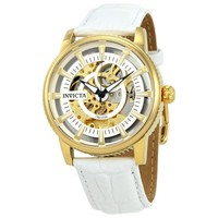 Invicta Objet D Art Automatic Silver Skeleton Dial Mens Watch 22643