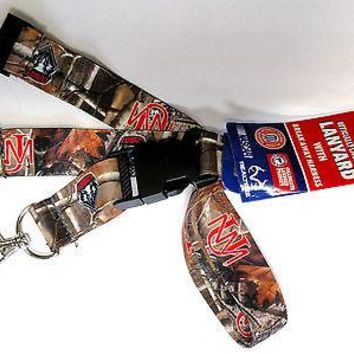 New Mexico Lobos CAMO RR Deluxe 2-sided Lanyard Breakaway Keychain University of