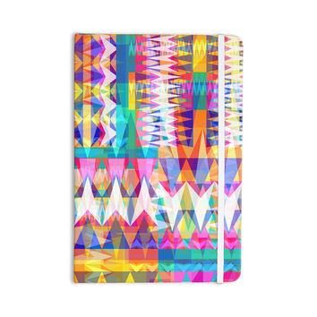 "Miranda Mol ""Triangle Collage"" Pastel Geometric Everything Notebook"