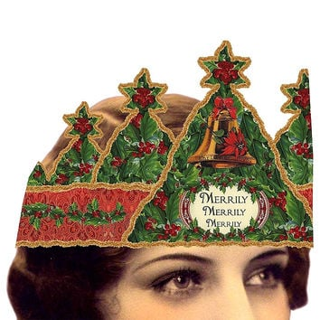 Heart the Moment Greeting Card - Christmas Merrily with Holly Tiara
