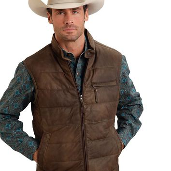 Stetson Sanded Suede Puffy Vest