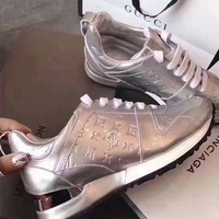 【Louis Vuitton】LV Woman Trending Fashion Casual Print Running Shoes Sliver G