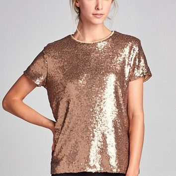 Sparkling Night Out Bronze Shirt