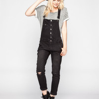 Celebrity Pink Womens Denim Overalls Black Denim  In Sizes