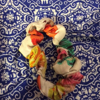 Colorful Feather Scrunchie