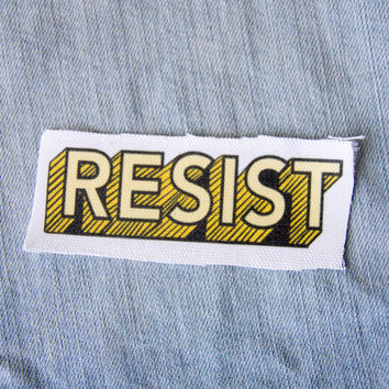 "Yellow ""Resist"" Quote Patch"